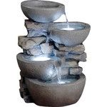 <strong>Polyresin and Fiberglass Tiered Modern Bowls Fountain</strong> by Jeco Inc.