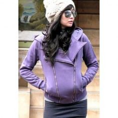 $8.93 Street Style Hooded Long Sleeves Double Zipper Design Solid Color All-Match Cotton Bledn Hoodie For Women