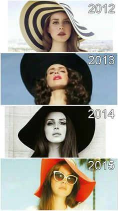 Lana Del Rey + floppy hats #LDR #fashion