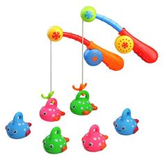 Fajiabao Bath Toys For Kids Age 3 4 5 Bathtub Fun Toys Fishing Game with Cute Spotted Fish and Fishing Rod, Toy Ideal Gift for Toddlers Boys Girls Kids Children Bathtub Fun Time Set of 2 (Color Vary) * See this great product. (This is an affiliate link) Toddler Boy Gifts, Toddler Toys, Gifts For Boys, Baby Toys, Bath Toys For Toddlers, Toys For Boys, Kids Toys, Toddler Water Table, Photo Table