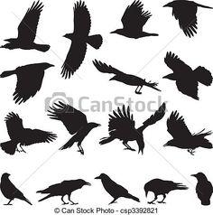 krähen Hirsch Silhouette, Vogel Silhouette, Crow Silhouette, Silhouette Drawings, Crow Pictures, Crow Images, Bing Images, Crow Photos, Crow Logo