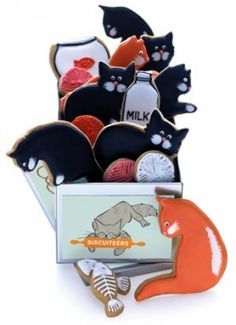 Cat cookies for cats? Cat cookies for people? Cute either way.
