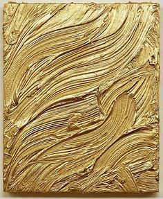 veloure:    Jason Martin  'As Yet Untitled' Gold  2010  Mixed media on aluminium