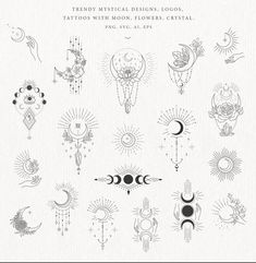 Piercing Tattoo, Kritzelei Tattoo, Tattoo Mond, Piercings, Tattoo Drawings, Lunar Flowers, Bild Tattoos, Moon Tattoos, Tatoos