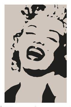 Marilyn Monroe Stencil Regular Poster measuring cm Fast shipping from Sydney, Australia. Marilyn Monroe Stencil, Pop Art Marilyn, Marilyn Monroe Artwork, Stencil Art, Stencils, Mary Monroe, 3d Templates, Deco Originale, Illustration