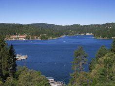Lake Arrowhead, Beautiful Lake in the San Bernardino Mountains California Big Bear Mountain, Big Bear Lake, Great Places, Places To See, Beautiful Places, Yosemite National Park, National Parks, Lake Arrowhead California, Places To Travel