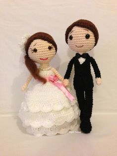 ♡ Amigurumi crochet wedding dolls. Bride and groom. (Inspiration). ♡