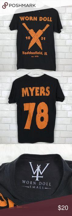 on sale d6e67 78d87 Worn Doll Michael Myers Halloween T-Shirt Small Worn Doll Michael Myers  Halloween T-