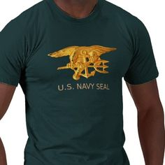 This t-shirt is decorated on the front with a large U.S. Navy SEALs Trident bdf5359adf