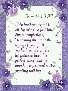 James 1:2-4 KJV