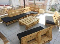 Construire un salon de jardin en bois de palette | palette bois ...