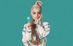 Lataa kuva Bebe Rexha, Amerikkalainen laulaja, blondi, nuori laulaja, kaunis tyttö