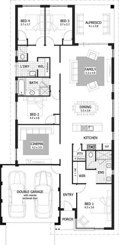 Nicholson Floor Plan - Making intelligent use of space, this 231sqm home has modern day features for any family.