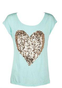 Sparkle Heart Short-Sleeve