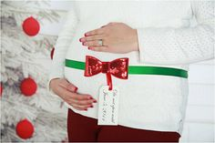 Sequin Bow Maternity Sash  Christmas Baby  by SparklesButterflies