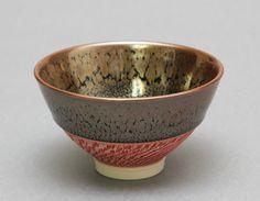 Wheel Thrown Porcelain Tea Bowl / Chawan with Oil by hsinchuen, $100.00