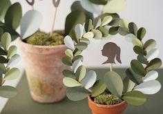 DIY Paper Leaf Topiary