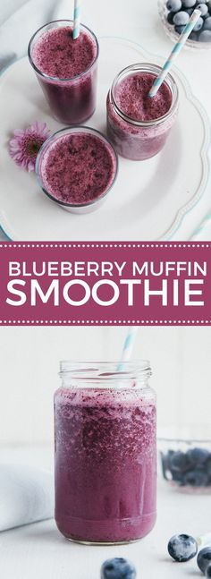 Raw Blueberry Muffin Smoothie