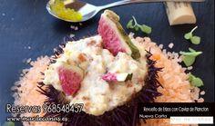 ¿ cansad@ de comer siempre lo mismo ? ¿ has probado ya nuestro Revuelto de Erizos con Caviar de Plancton?  ...  ¡ te esperamos en Mar de Cañas en la Bahía de Portman!  Reservas 968548457
