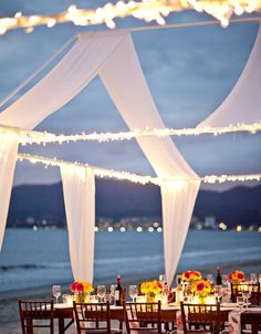 Love this open-air tent for a summer wedding.