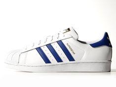 size 40 fd77e ee510 Vente pas chère Homme Adidas Superstar B Foundation Trainer chaussures  blanc Royal