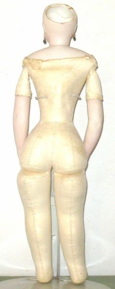 14 Inch 1860's French Fashion Great Kid Body and Face with Bee Stung from americana-and-whimsy on Ruby Lane