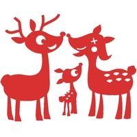 grote familie PüReh, rood velours ijzer-on design - PeppAuf.de