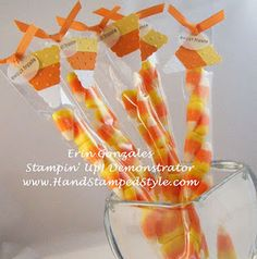 candy corn treats with candy corn treat topper - bjl