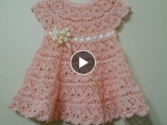 Crochet Patterns For Beginners Knitting Patterns Free Baby Knitting Crochet Skirts Knit Crochet Baby Cardigan Baby Girl Dresses Baby Girl Crochet Crochet For Kids Crochet Baby Dress Pattern, Baby Girl Dress Patterns, Crochet Romper, Knit Baby Dress, Knit Crochet, Crochet Stitch, Diy Crafts Dress, Diy Dress, Crochet Toddler