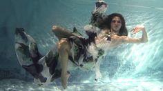 """Underwater fashion show """"Harmagedon. Psalm 36:29"""" Jana Nedzvetskaya S/S ..."""