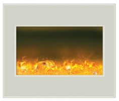 Amantii ZECL-30-3226-WHTGLS electric fireplace insert with white glass; $949 cdn.