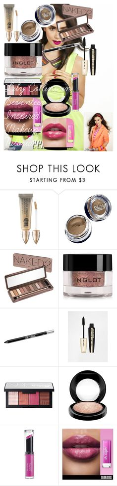 """Lily Collins in Seventeen Inspired Makeup: Tutorial"" by oroartye-1 on Polyvore featuring beauty, COVERGIRL, Urban Decay, Maybelline, Inglot, L'Oréal Paris, NARS Cosmetics, MAC Cosmetics and Revlon"