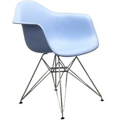 East End Imports EEI-181-BLU Paris Wire Armchair in Blue