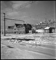 Nevada en la estación de Puigcerdá , año 1958, fondo Cuyas