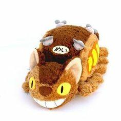"My Neighbor Totoro 7.5"" Long Small Cat Bus Bean Filled Soft Plush By Sun Arrow | ETOYOSTORE.COM"