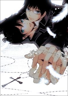 Rin x Yukio (Ao No Exorcist)I don't ship it but I like this picture xD