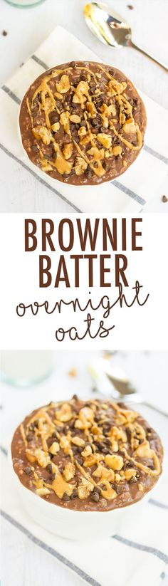 Have chocolate for breakfast with these HEALTHY brownie batter overnight oats.