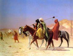 Arabs Crossing the Desert painting - Jean-Leon Gerome Arabs Crossing the Desert art painting