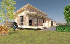 Bouwenmetstrobalen.nl - ecologisch verantwoord bouwen met strobalen kan architectuur worden Style At Home, Utrecht, Cabin, House Styles, Outdoor Decor, Tiny Houses, Home Decor, Handmade, Animals