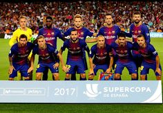 EQUIPOS DE FÚTBOL: BARCELONA contra Real Madrid 13/08/2017 Supercopa de España