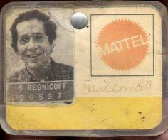 mattel toy employee identification badge | Stan Resnicoff Mattel