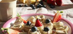 detox Frühstück raw veganer Quark aus Cashewnuss zusammen mit Bananen