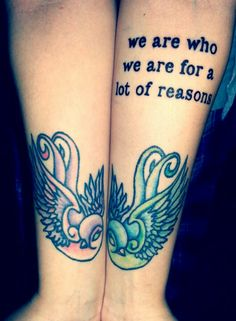 The Perks of Being a Wallflower tattoo :) I wish I could cover my body in book quotes. <3