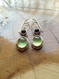 Prehnite and African Amethyst Sterling Silver by JimRoweDesigns, $49.99
