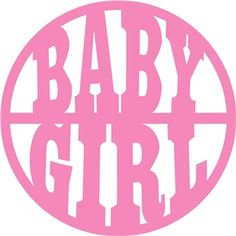 Silhouette Design Store - View Design #30433: 'baby girl' circle title