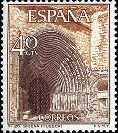Spain, Church of Sigena. Postage Stamp Design, Postage Stamps, Spain Images, Interesting Buildings, Animals Images, Stamp Collecting, Tourism, History, Architecture
