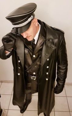 Leather Trench Coat, Leather Coats, Leather Jacket, Trench Coats, Master Tailor, Piece Of Clothing, Leather Men, Hair Cuts, Handsome