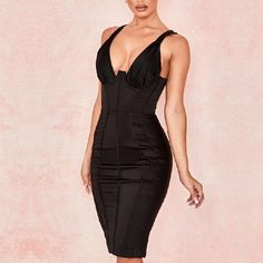 Color : Black Style : Sexy & Club Material : Polyester ,Spandex Occasion : Evening Party, Nightclub, Cocktail, Runway The post Sexy V-Neck Spaghetti Strap Club Evening Party Dress appeared first on Power Day Sale.