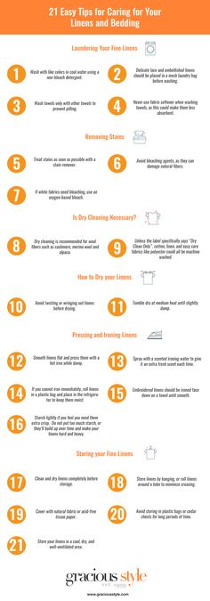 INFOGRAPHIC: Caring for Your Linens