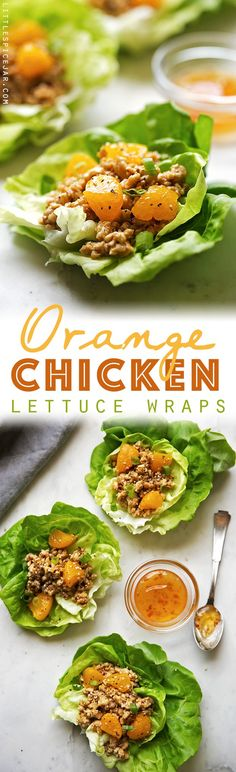 Orange Chicken Lettuce Wraps